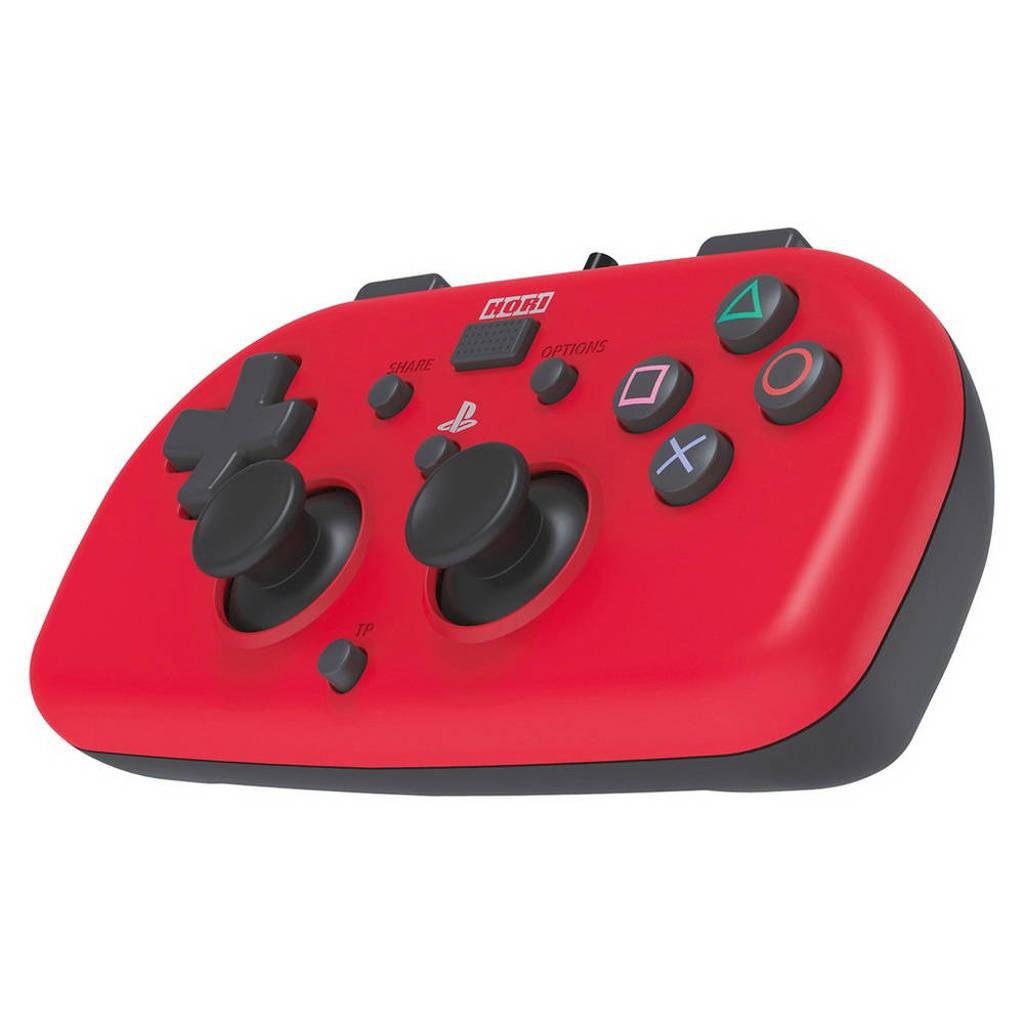 Hori PlayStation 4 mini-wired gamepad rood, Rood