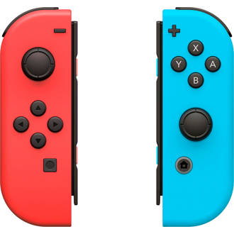 Switch set 2 Joy-Con controllers rood/blauw
