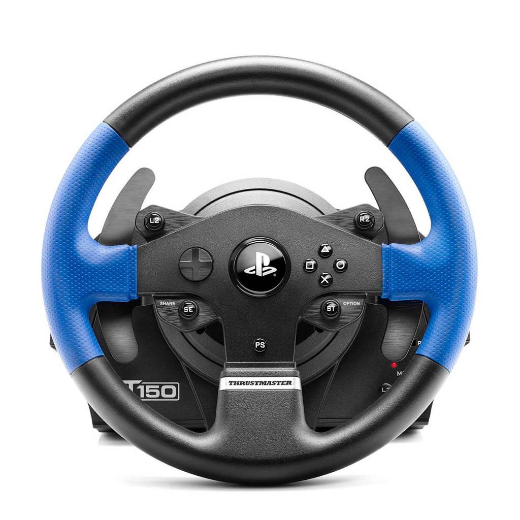 Thrustmaster T150RS Force Feedback racestuur (PS4/PS3/PC), Zwart, Blauw