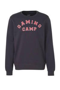 Blend sweater met tekst donkerblauw, Donkerblauw