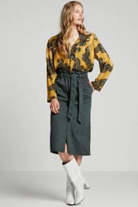 Inwear top Keelial met all over print geel/groen, Geel/groen