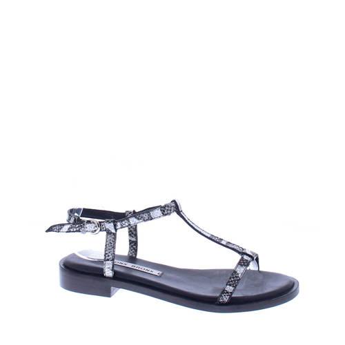 Bronx Thrill Snake leren sandalen zwart/wit