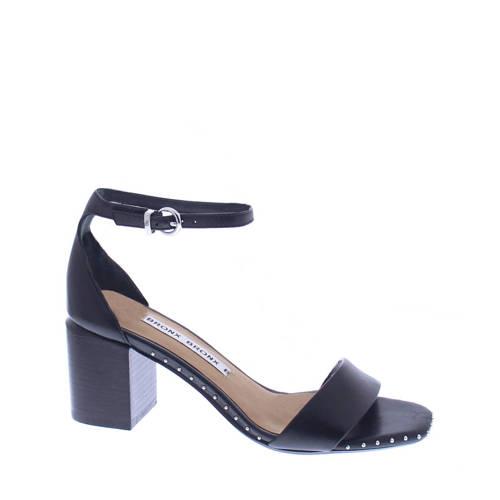 Bronx Salvea leren sandalettes zwart