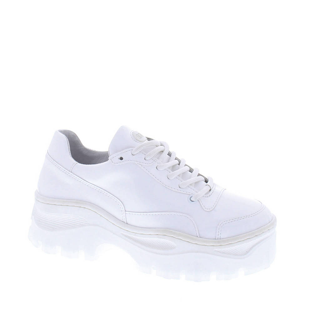Bronx  Jaxstar Patent leren chunky dad sneakers wit, Wit