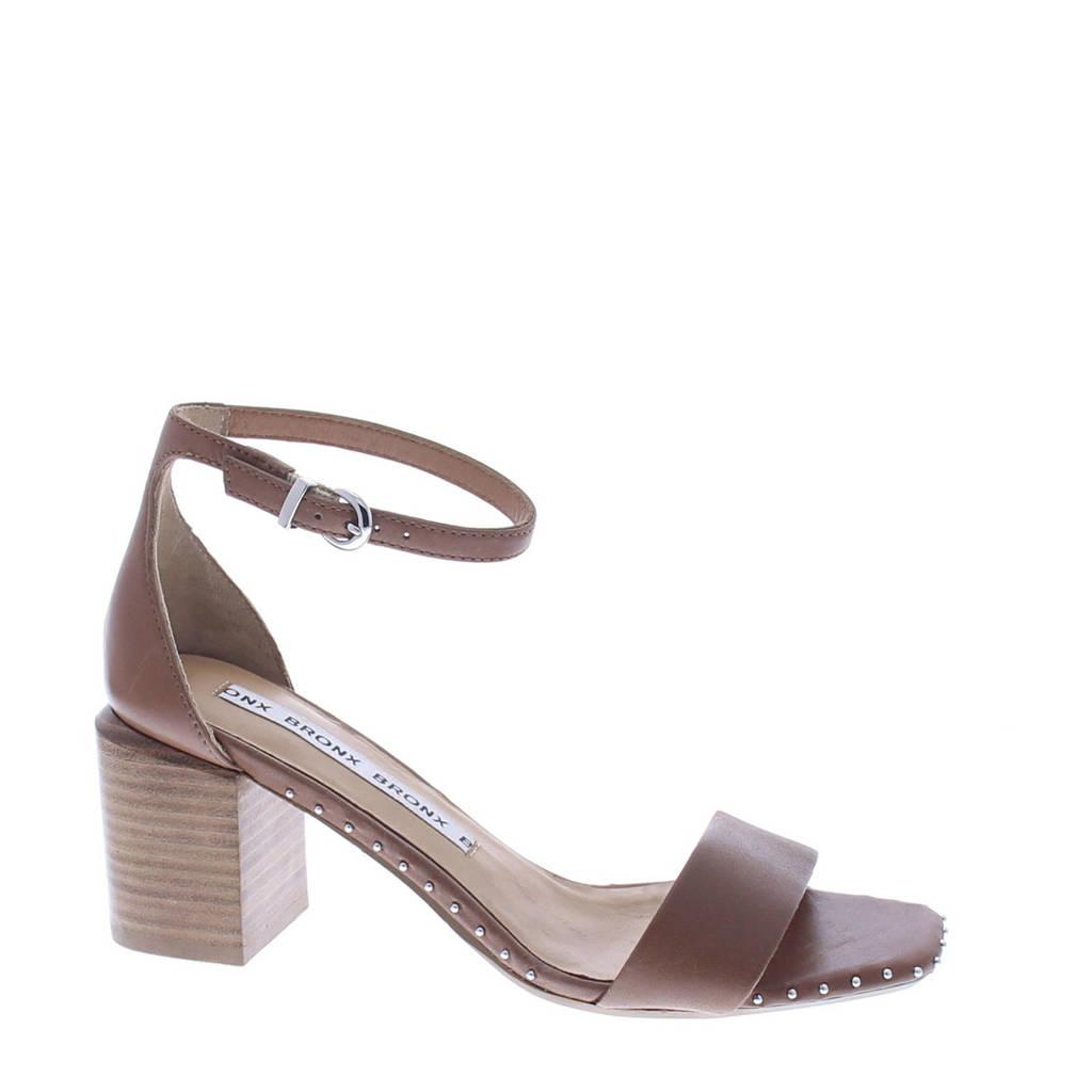 Bronx Salvea leren sandalettes bruin, Bruin