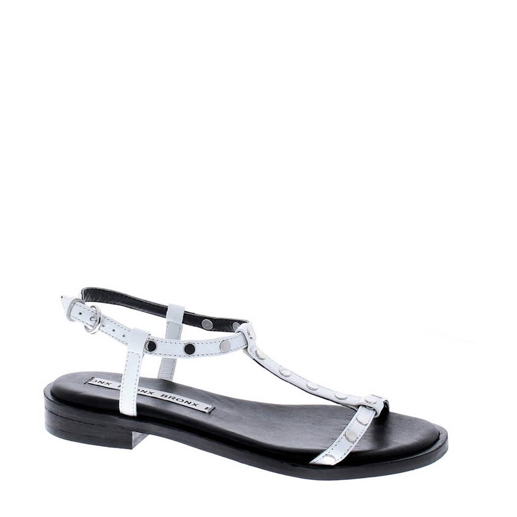 Bronx   Thrill leren sandalen wit, Wit