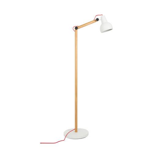 energie A++, Staande lamp STUDY metaal-hout 1 lichtbron, Zuiver