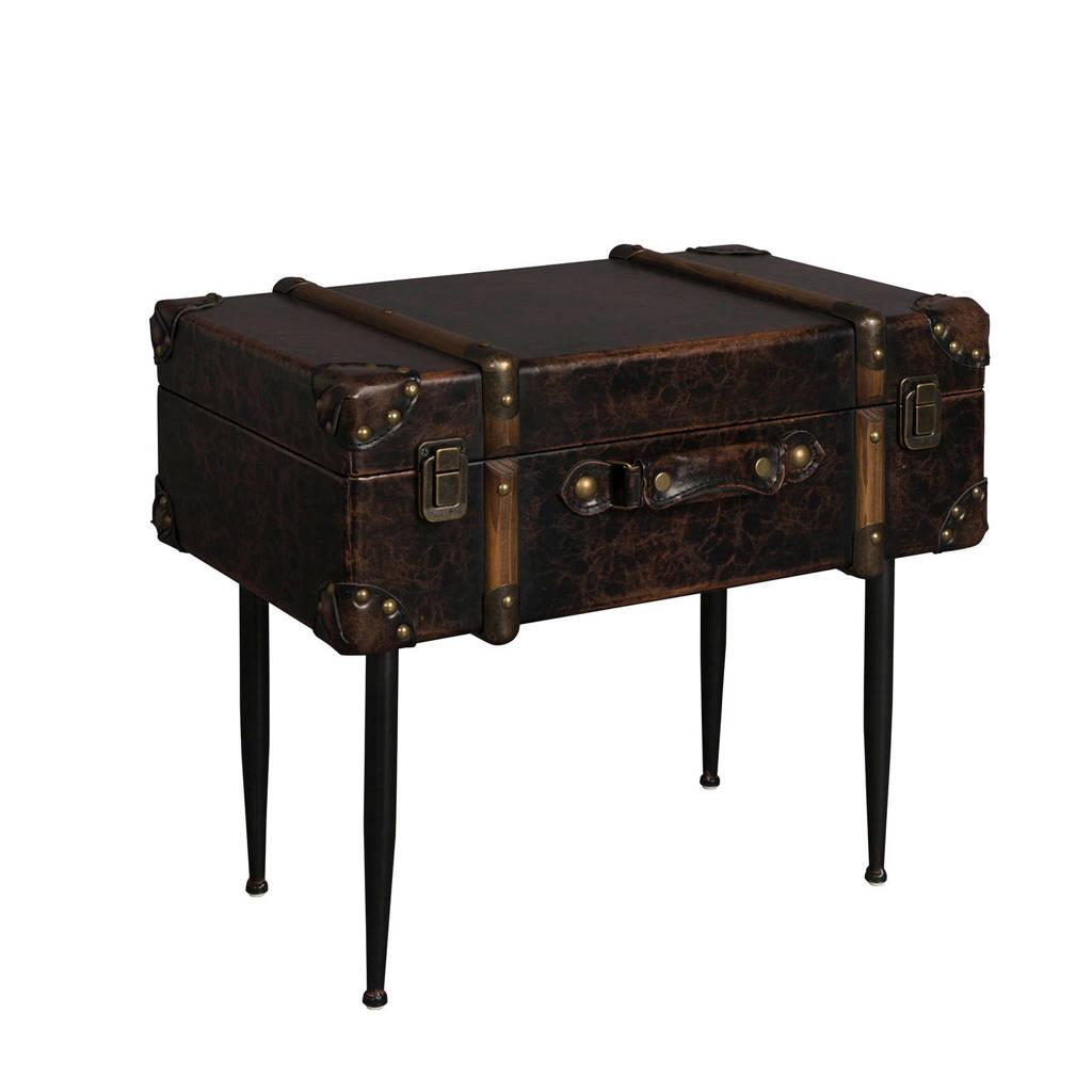 Dutchbone bijzettafel Luggage, Bruin