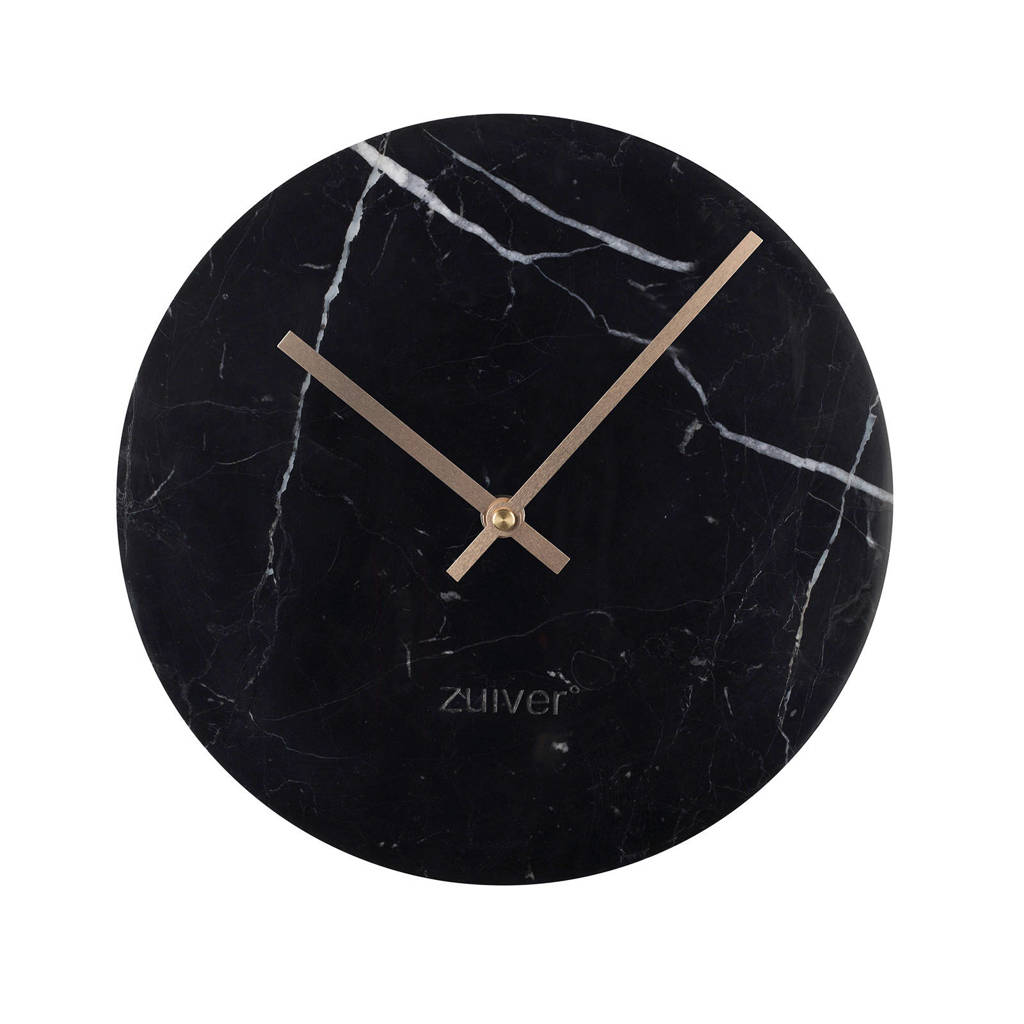 Zuiver wandklok Marble Time, Zwart