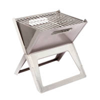 Bo-Camp Notebook Compact RVS barbecue, Zilver