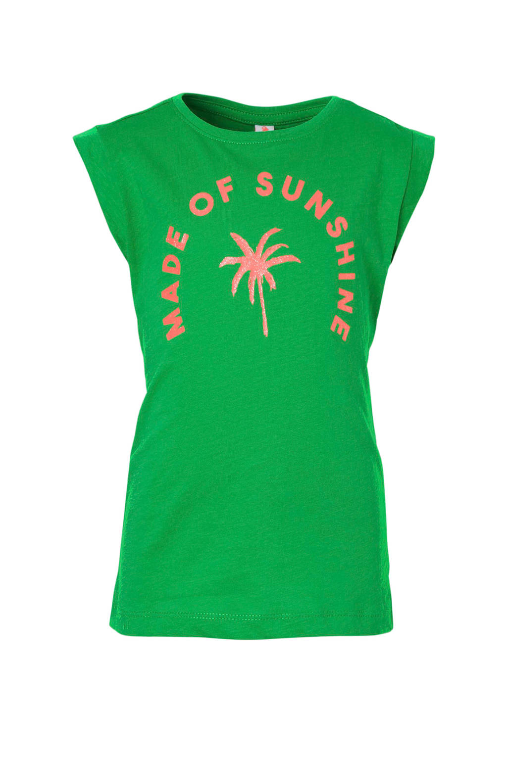Jill T-shirt Feya groen, Groen/ felroze