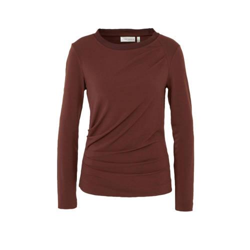 Inwear top met overslag detail donkerrood