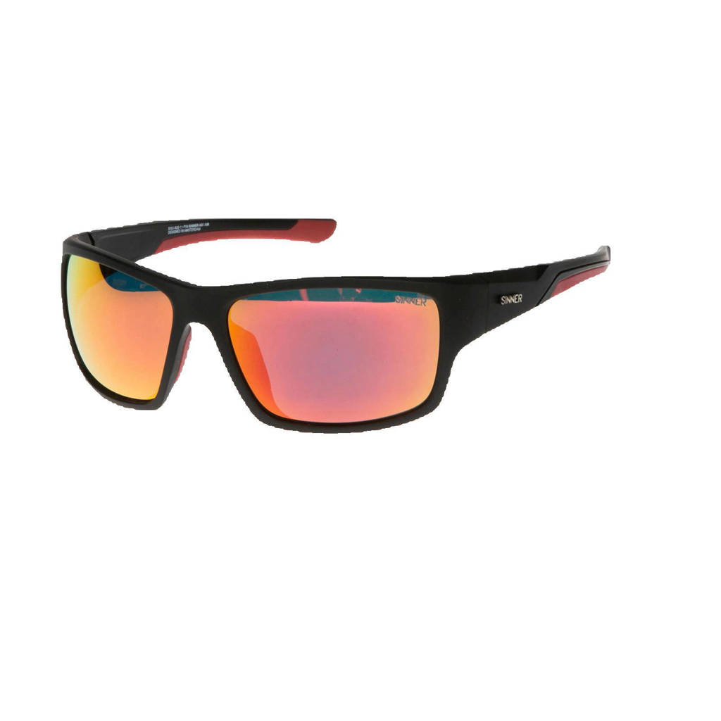 Sinner zonnebril SISU-820-11-P59 zwart, Zwart/rood