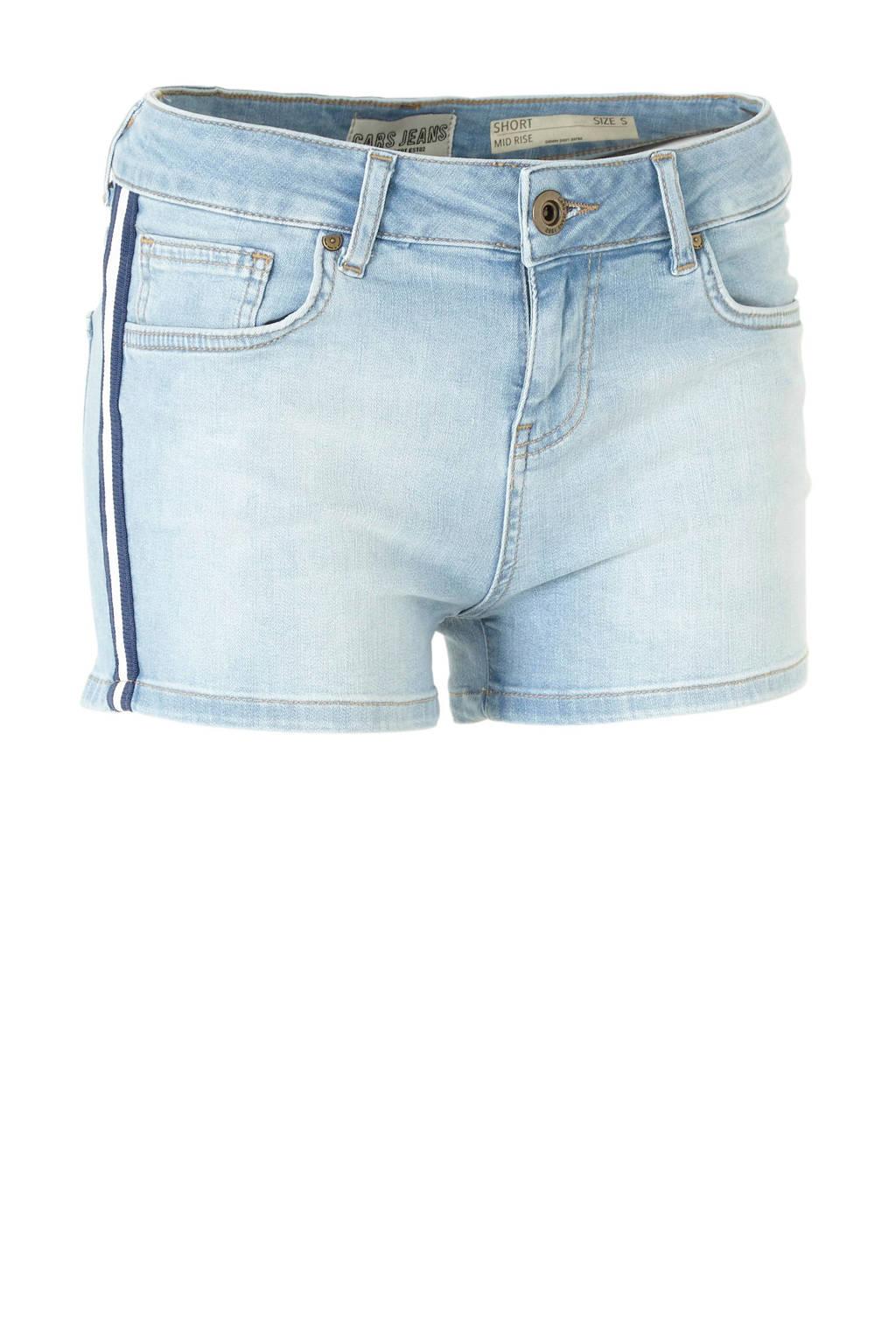 Cars slim fit jeans short Strippa met zijstreep, Blauw