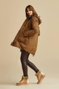 Moscow coated regular fit broek bruin, Bruin