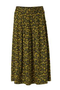 FREEQUENT rok met all over print groen/geel/zwart, Groen/geel/zwart