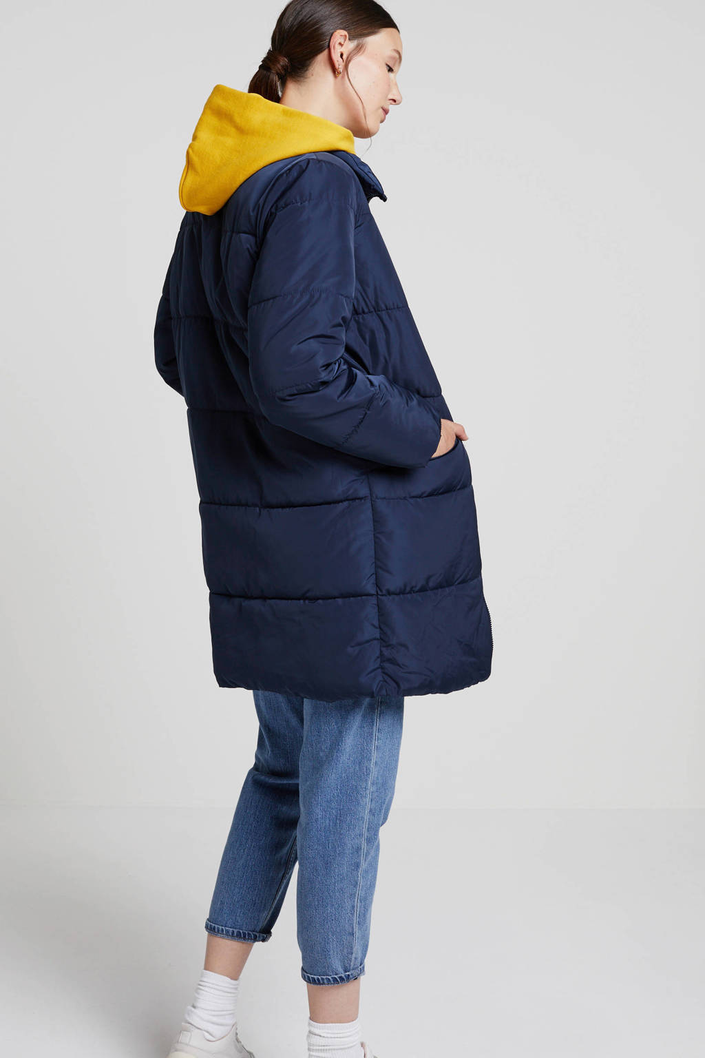 FREEQUENT gewatteerde winterjas blauw, Blauw