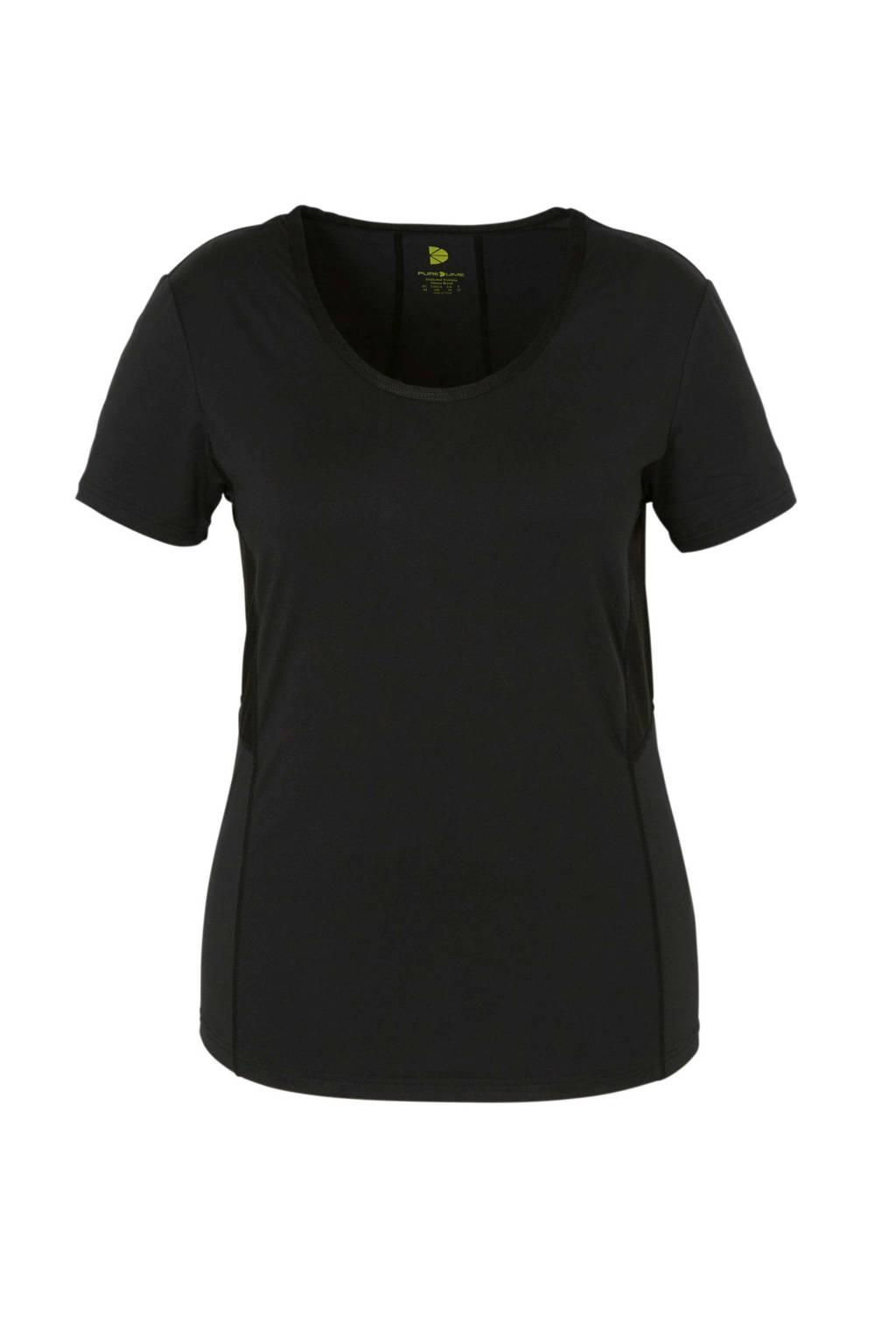 PureLime sport T-shirt zwart, Zwart