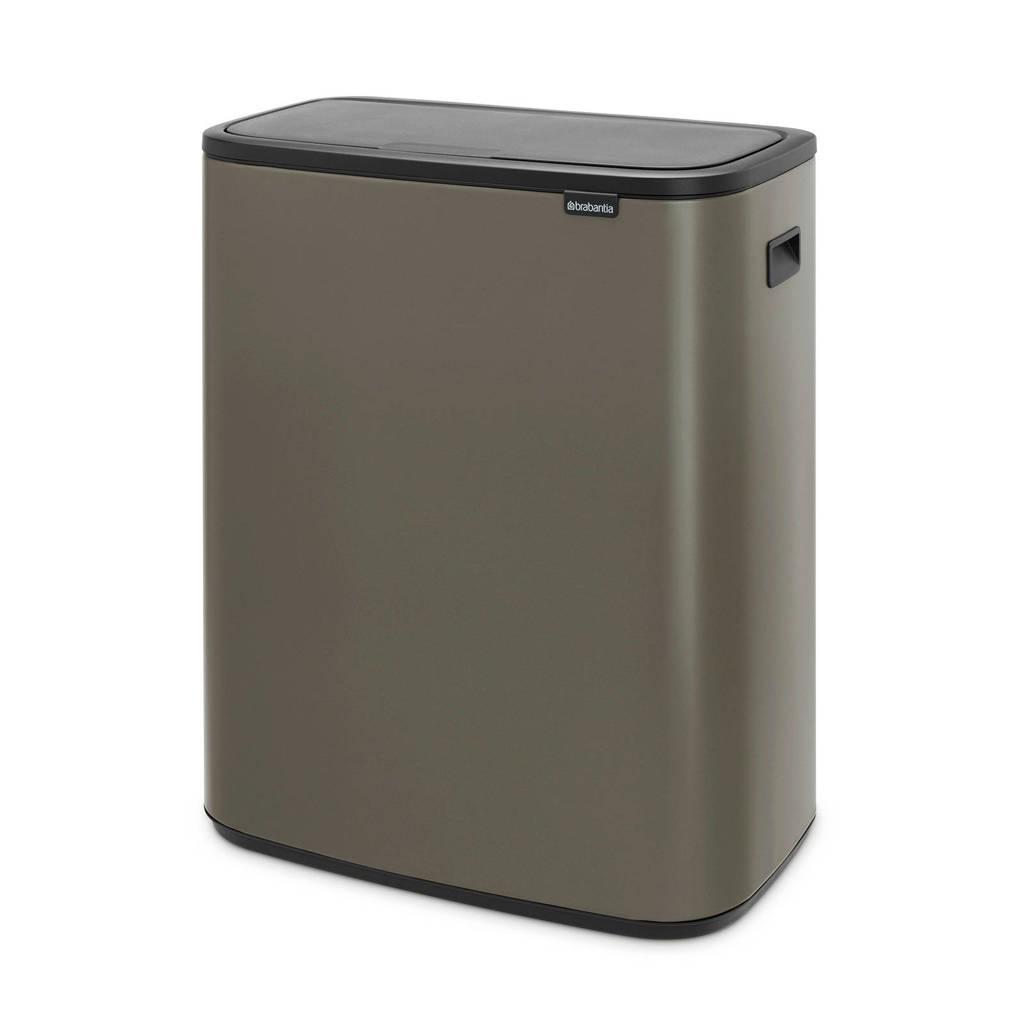 Brabantia Bo Touch bin afvalemmer (2x30 liter), Platinum