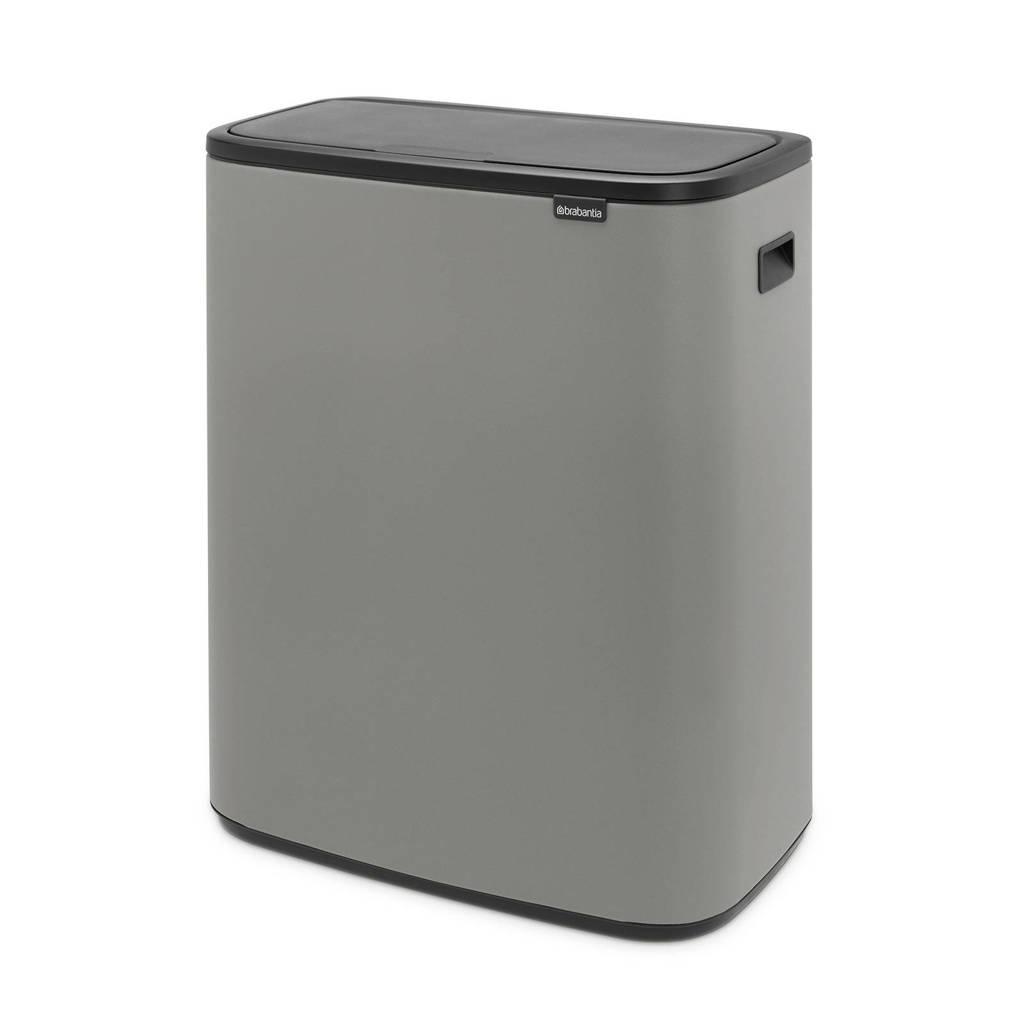 Brabantia Bo Touch bin afvalemmer (60 liter), Grijs