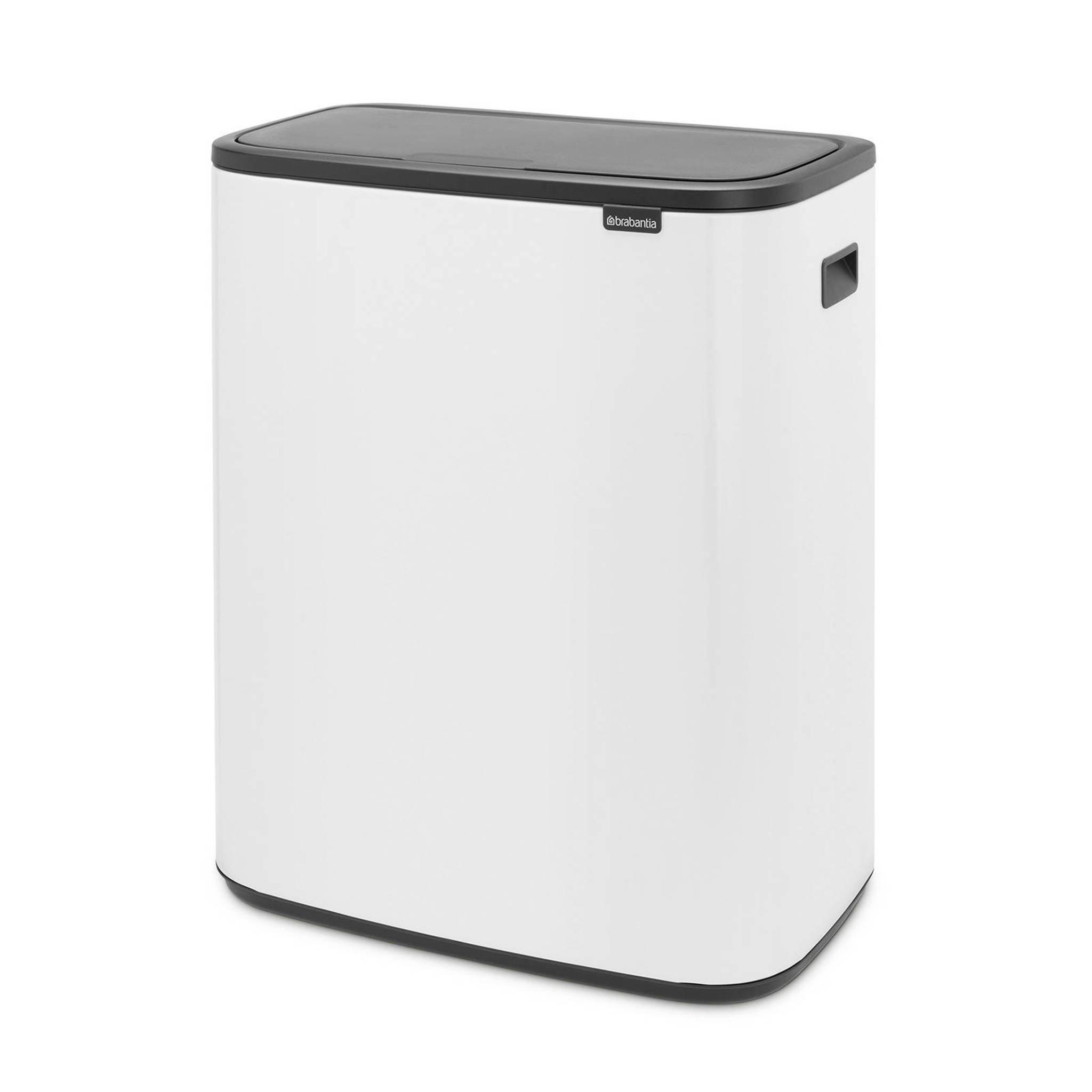 Brabantia Touch Bin 30 Liter Wit.Bo Touch Bin Afvalemmer 2 X 30 Liter