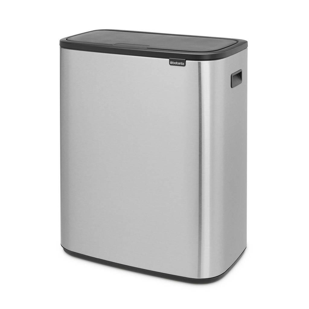 Brabantia Bo Touch bin afvalemmer (60 liter), Zilver