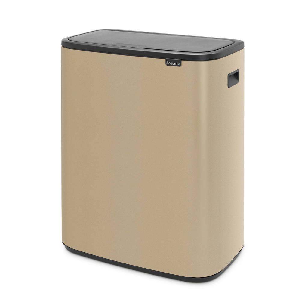 Brabantia Bo Touch bin afvalemmer (60 liter), Goud