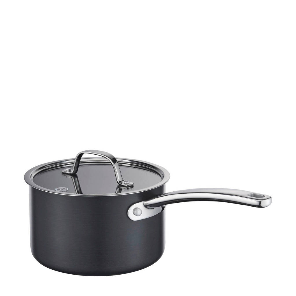 Masterchef sauspan met deksel (Ø20 cm - 3.8 liter), Zwart