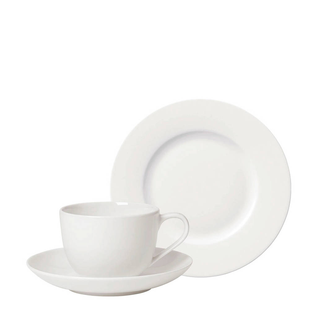 Villeroy & Boch For Me koffie set (18-delig), Wit