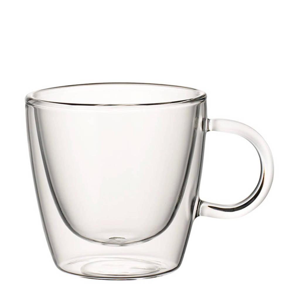 Villeroy & Boch Artesano Hot Beverages dubbelwandig glas met oor - koffie (set van 2), Transparant