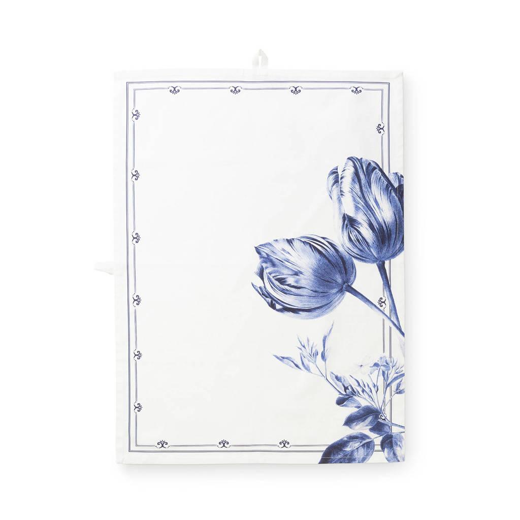 Jannie van der Heijden Sharing Moments theedoek (50x70 cm), Blauw