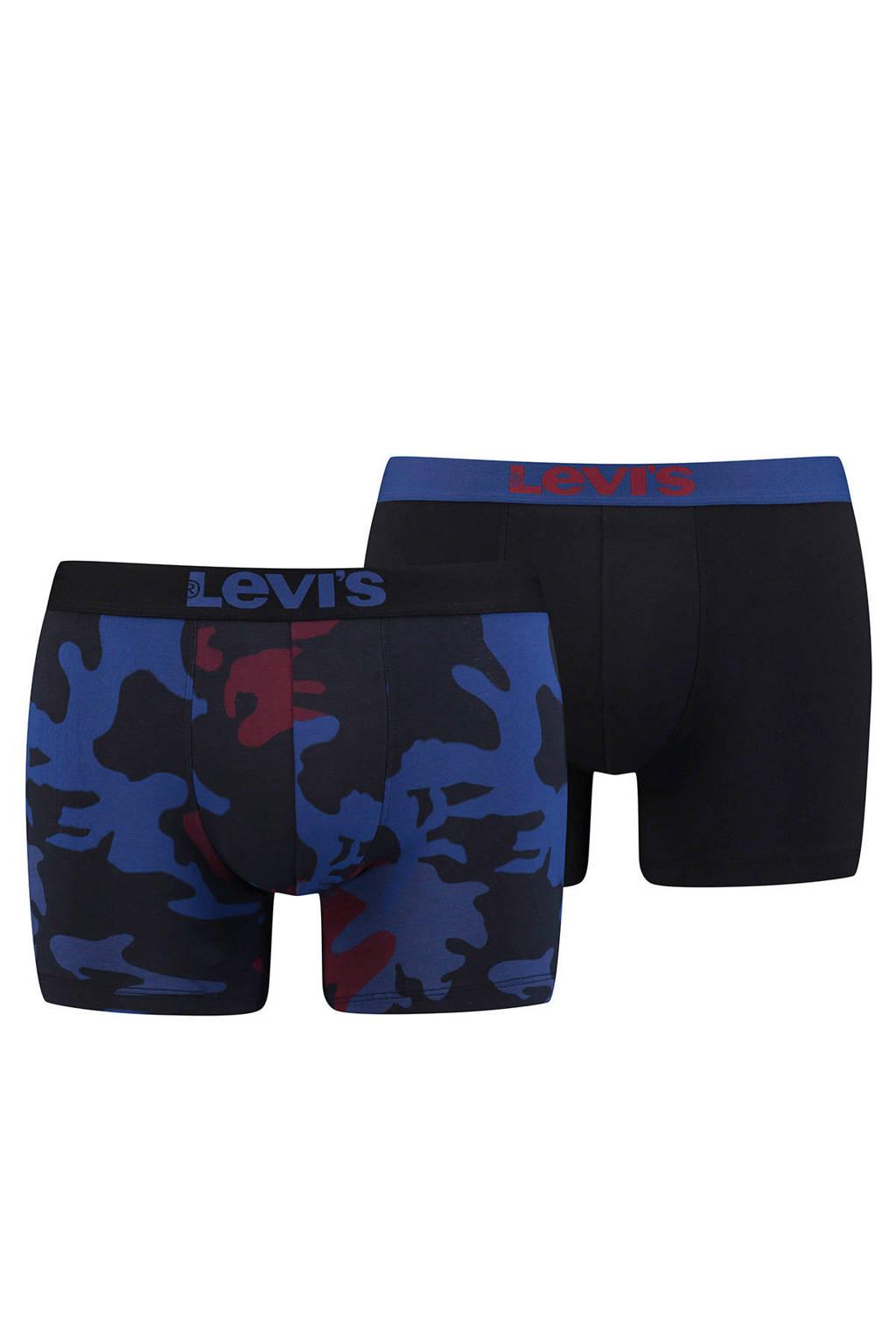 Levi's boxershort (set van 2), Blauw/zwart