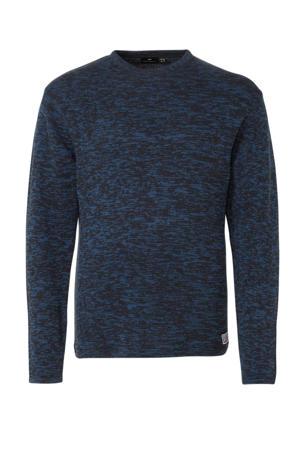 +size gemêleerde trui marie/blauw