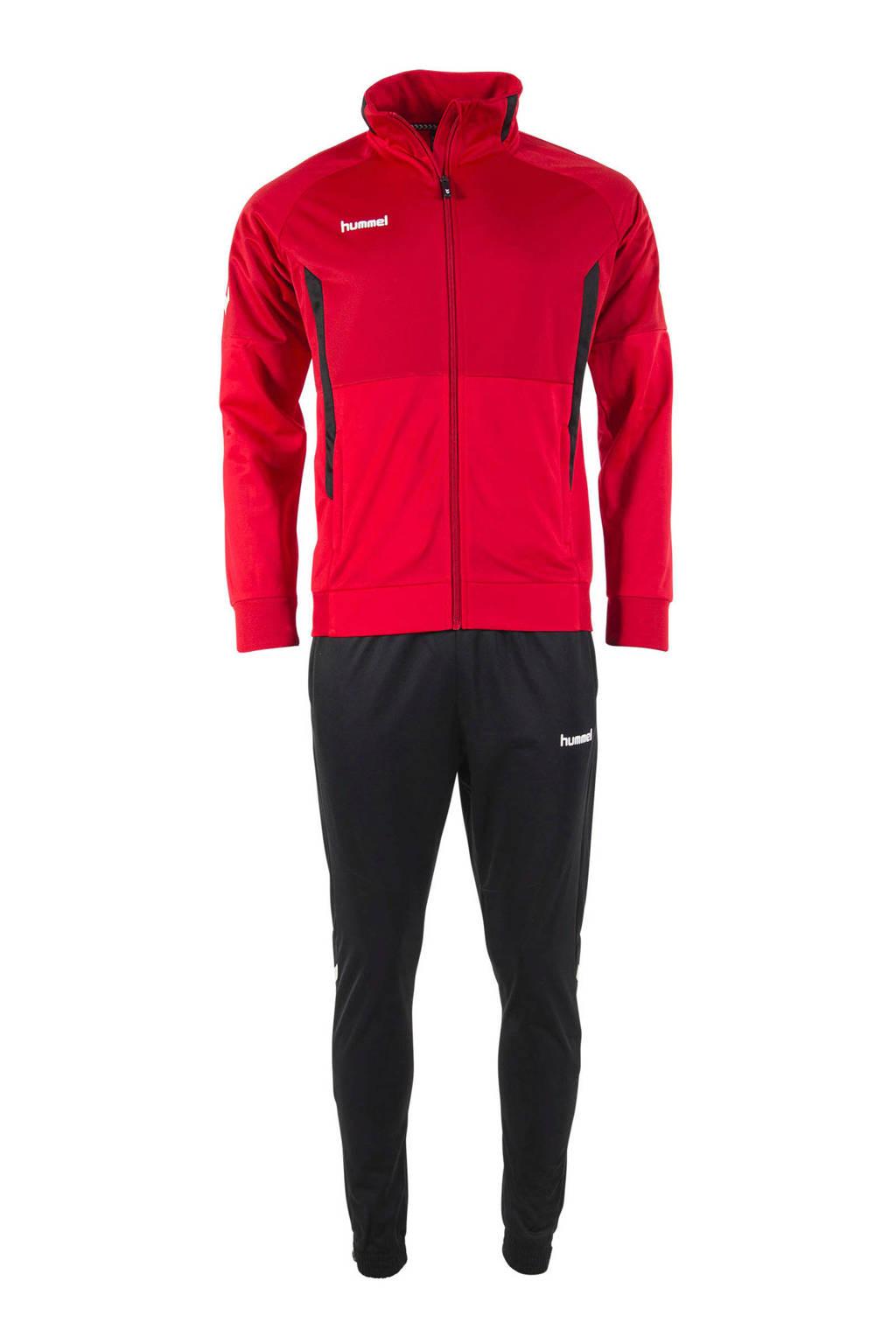 hummel Junior  trainingspak rood/zwart, Rood/zwart