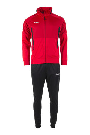 Junior  trainingspak rood/zwart