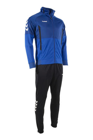 Junior  trainingspak blauw/zwart
