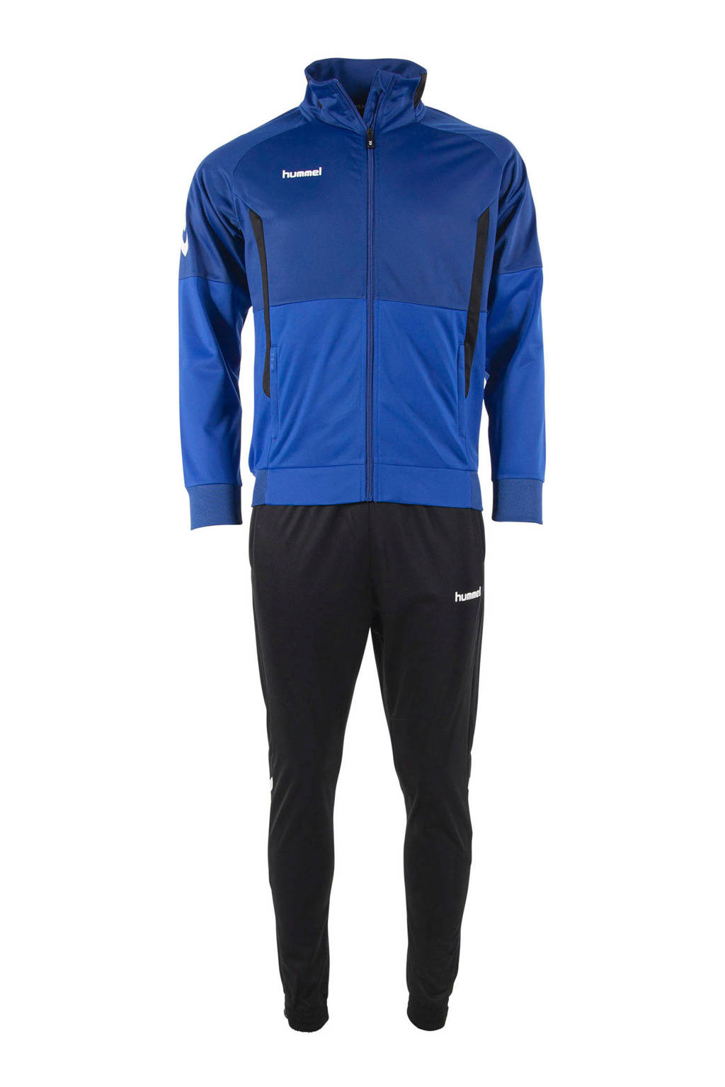 hummel Junior  trainingspak blauw/zwart, Blauw/zwart