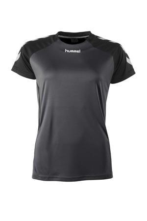 sport T-shirt Aarhus antraciet/zwart