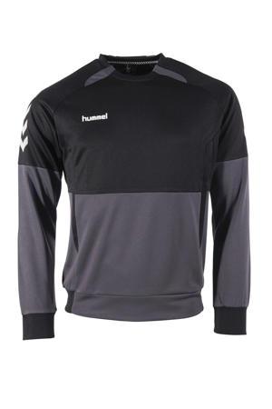 Junior  sportsweater grijs/zwart