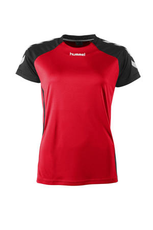 sport T-shirt Aarhus rood/zwart