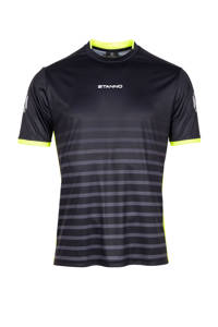 Stanno Junior  sport T-shirt Fusion zwart, Zwart/grijs