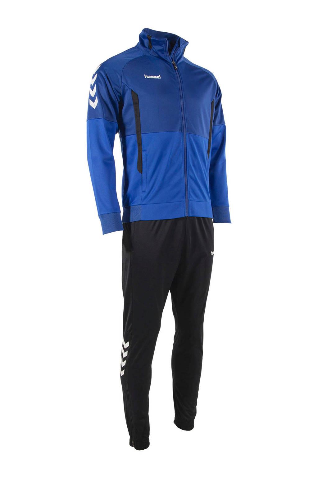 hummel Senior  trainingspak blauw/zwart, Blauw/zwart