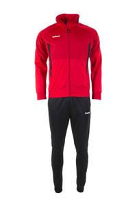 hummel Senior  trainingspak rood/zwart, Rood/zwart