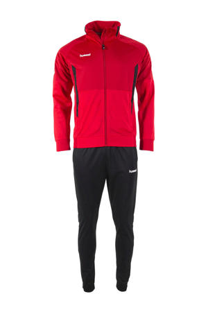 Senior  trainingspak rood/zwart