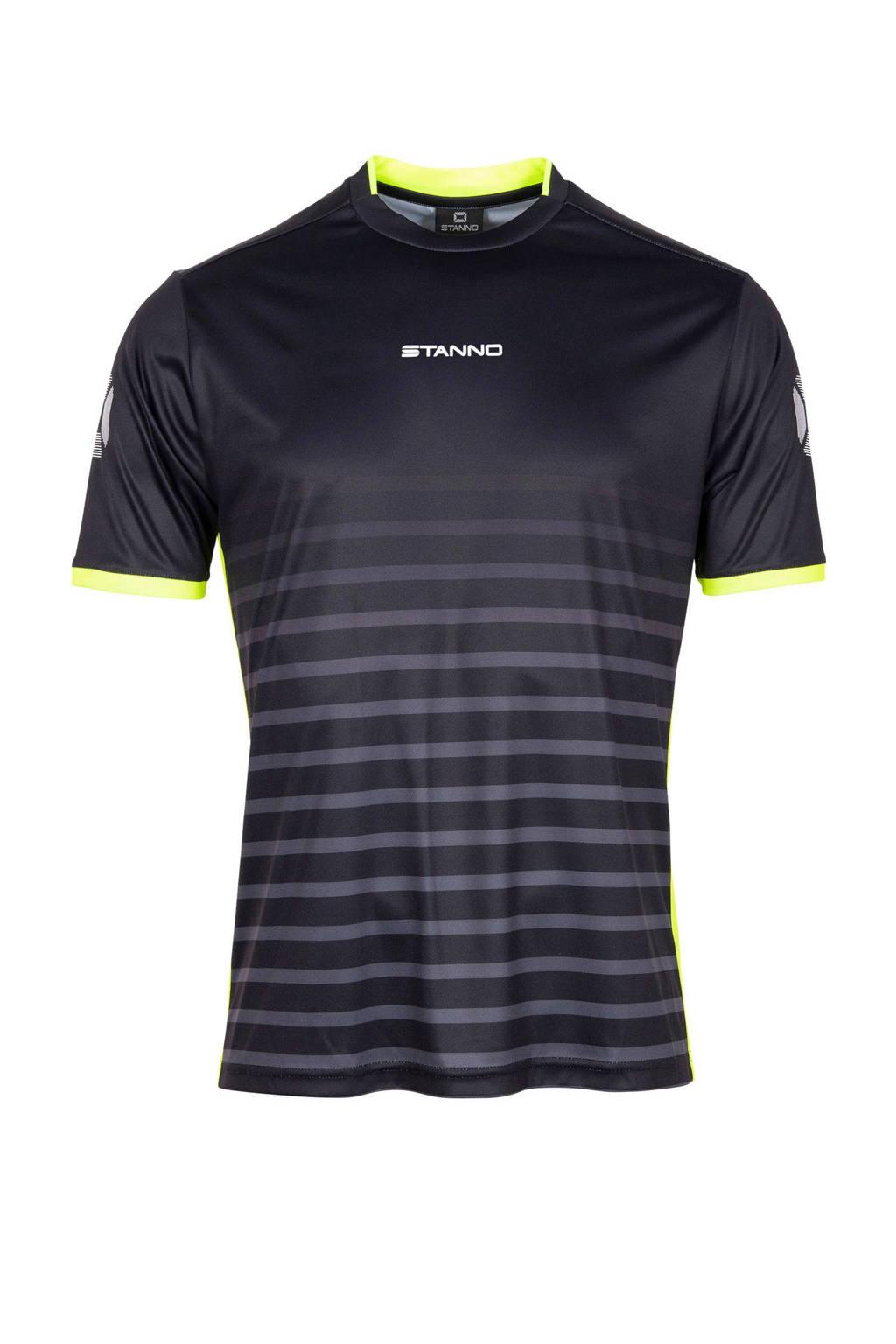 Stanno Senior  sport T-shirt Fusion zwart, Zwart/grijs