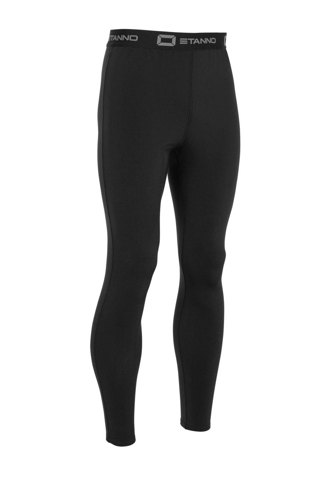 Stanno Junior  thermo sportbroek zwart, Zwart