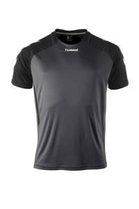 hummel Senior  sport T-shirt Aarhus antraciet/zwart, Antraciet/zwart