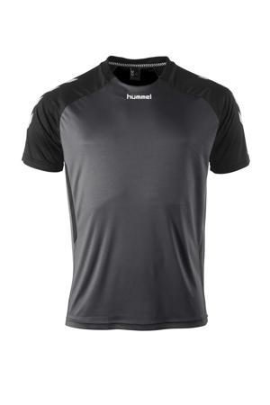 Senior  sport T-shirt Aarhus antraciet/zwart