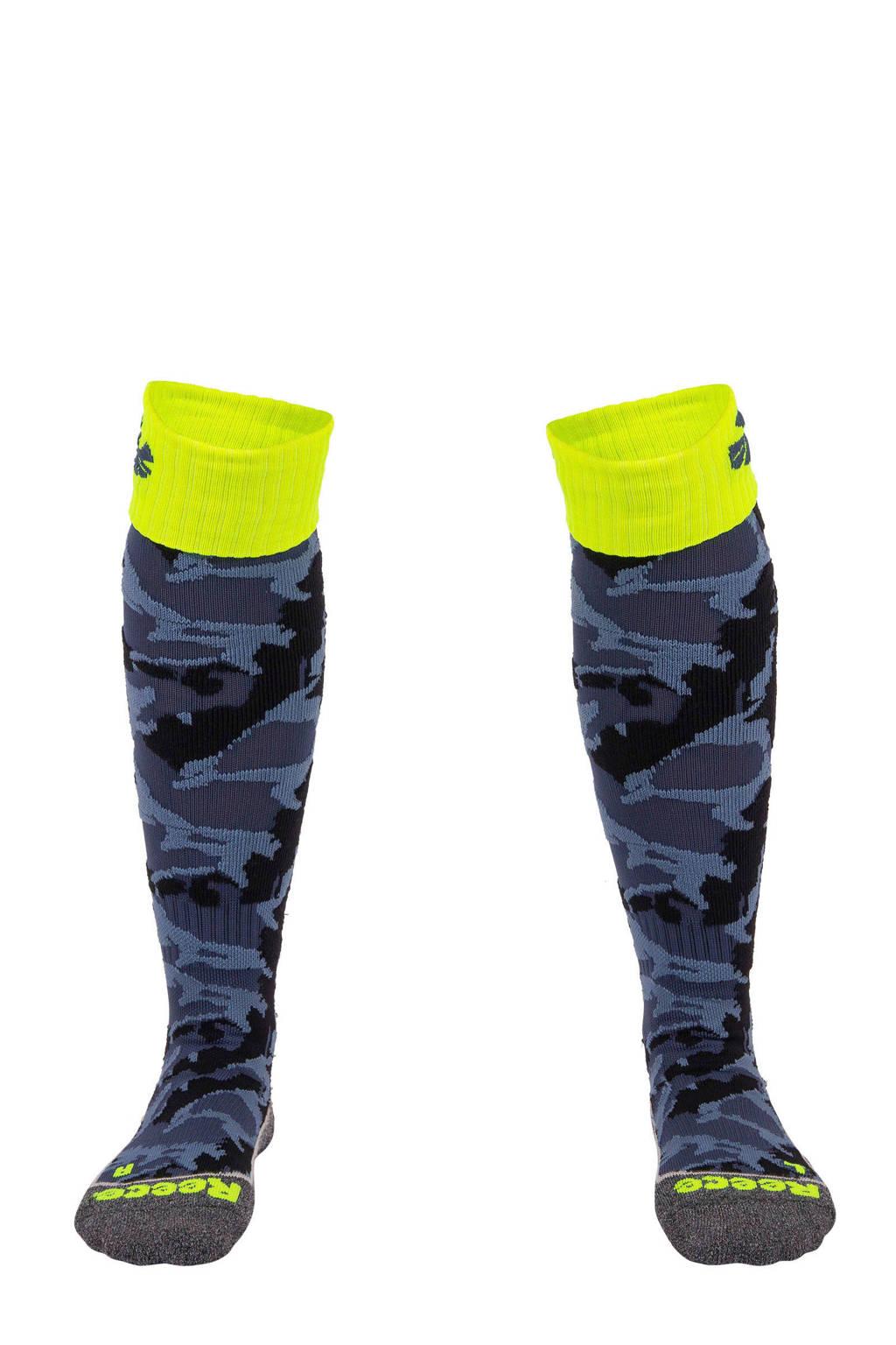 Reece Australia   sportsokken Ashford grijs camouflage, Grijs/zwart/geel