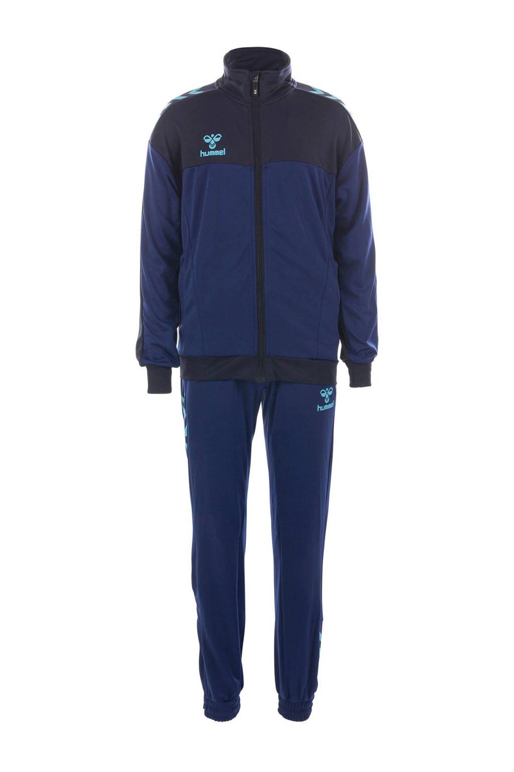 hummel   trainingspak, Donkerblauw/blauw